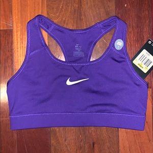 Nike size small sport bra purple